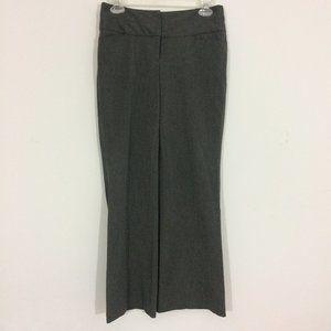 Express Womens 0 Editor Gray Flare Dress Pants